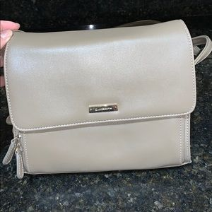 Liz Claiborne beige cross body purse